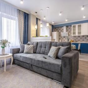 Раскладной диван в кухне-гостиной