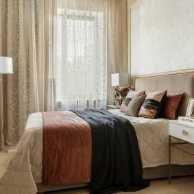 Комфортная спальная комната в хрущевке