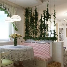 Живые растения в интерьере квартиры