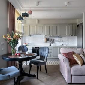 Комфортная кухня-гостиная в квартире