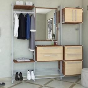 Модульная гардеробная на металлическом каркасе