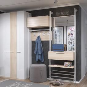 Комбинированная система хранения одежды в прихожей