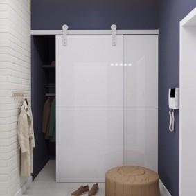 Гардеробный шкаф с амбарными дверцами