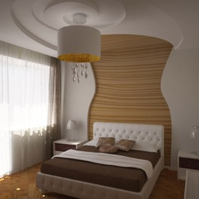 Декор из гипсокартона в интерьере спальни