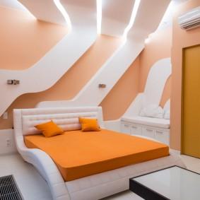 Современный интерьер спальни для подростка