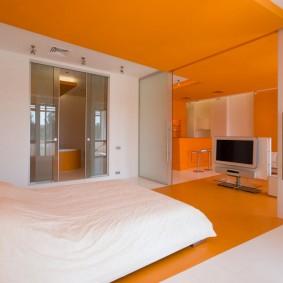 Яркое оформление спальни в молодежном стиле