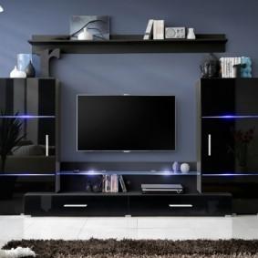 Стильная мебель в гостиной комнате