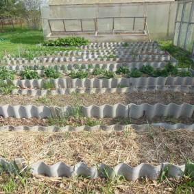 Огородные грядки из волнового шифера