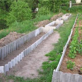 Огородные грядки из подручных материалов