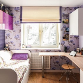 Комната подростка в пастельных тонах