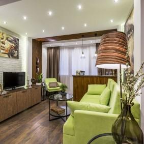 Оформление гостиной комнаты в стиле ретро