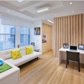 Декоративная перегородка в однокомнатной квартире