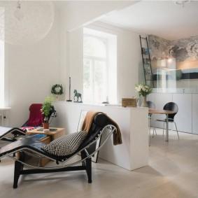 Кухня-гостиная в квартире студии