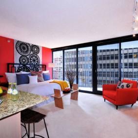 Панорамное остекление однокомнатной квартиры