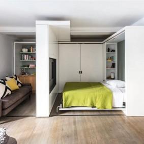 Раздвижная мебель в однокомнатной квартире