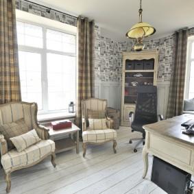 Уютный кабинет в стиле прованс