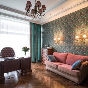 Роскошный кабинет в частном доме