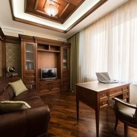 Расстановка мебели в квадратном кабинете