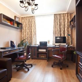 Интерьер домашнего кабинета для двоих