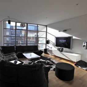 Дизайн гостиной в квартире геймера