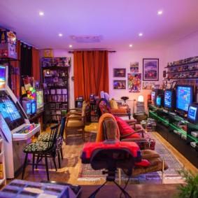 Фото игровой комнаты для геймера