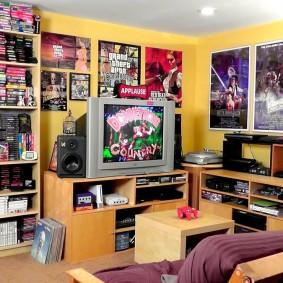 Стеллажи для компактдисков от пола до потолка
