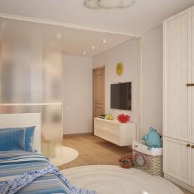 Декоративная перегородка в общей комнате
