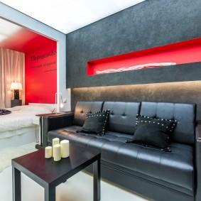 Декоративное углубление в стене комнаты