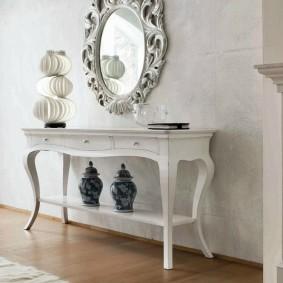 Стильная мебель белого цвета