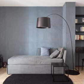 Зонирование перегородкой спального помещения