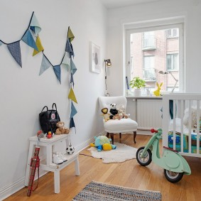 Декор детской комнаты в стиле сканди