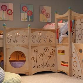 Игровой домик со спальными местами