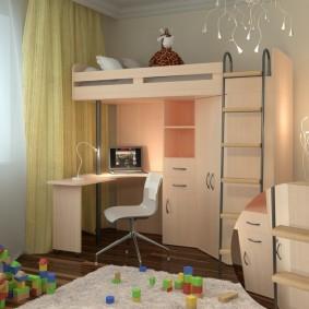 Светлые шторы в комнате ребенка