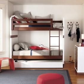 Типовая конструкция двухъярусной кровати