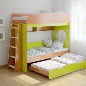 Современная кровать с выдвижным спальным местом