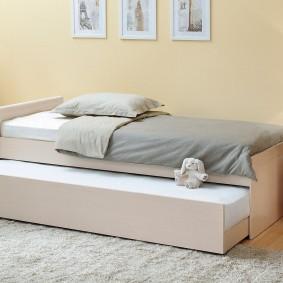Детская кровать с дополнительным спальным местом