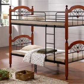 Стильная кровать в детской комнате