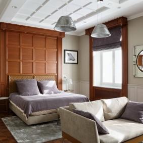 Отделка стены над изголовьем кровати
