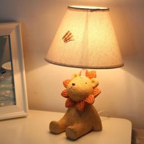 Детский светильники с мягкой игрушкой