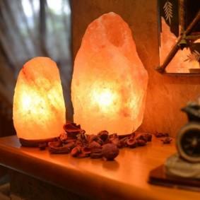 Пластиковые светильники в форме камней