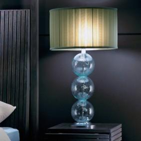 Стеклянный корпус у настольной лампы