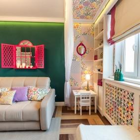 Комната маленькой девочки с раскладным диваном
