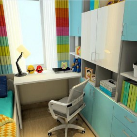 Небольшая комната для ребенка школьного возраста