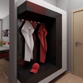 Современная мебель в компактной прихожей