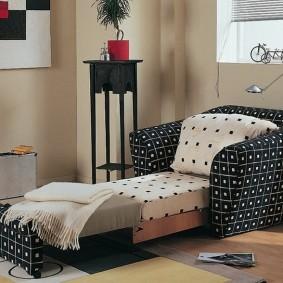 Кресло-кровать с текстильной обивкой