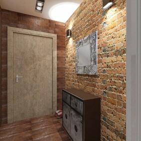 Интерьер коридора в индустриальной стилистике
