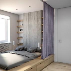 Спальное место для тканевой шторой