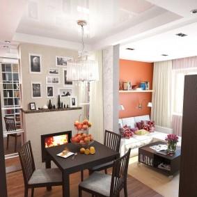 Кухня-гостиная в малогабаритной квартире