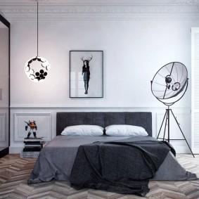 Шкаф-купе в спальне мужчины