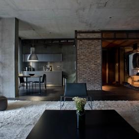 Квартира студийной планировки в стиле лофт